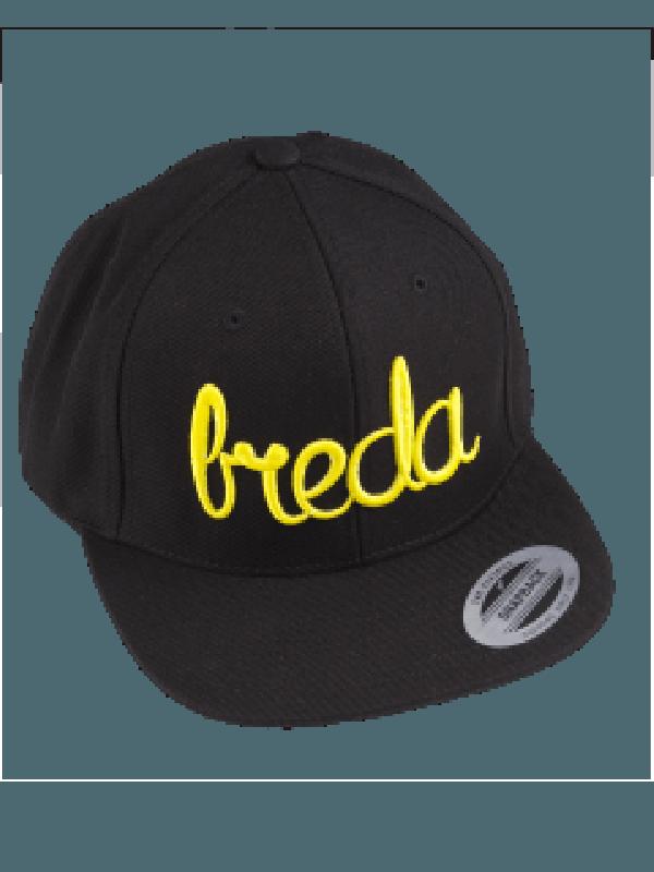 Cap zwart | Breda geel