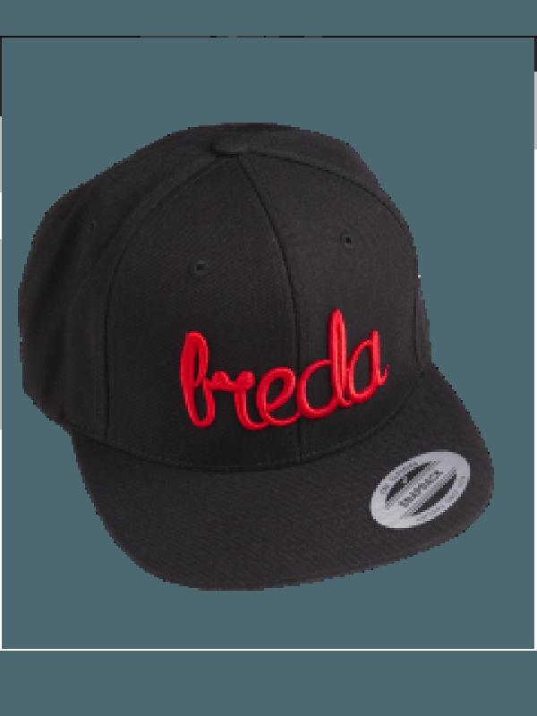 Cap zwart | Breda rood