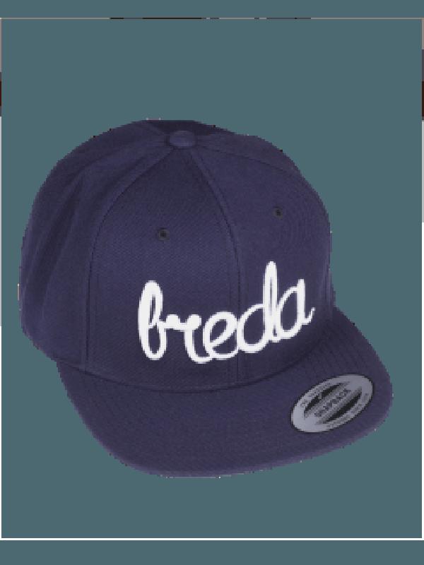 Cap blauw | Breda wit