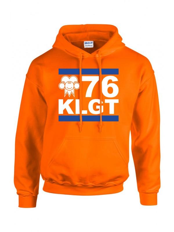 Hoodie Oranje | 076KLGT wit