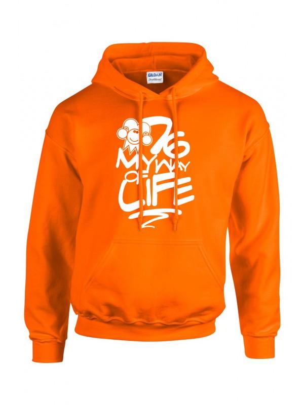 Hoodie Oranje | 076MWOL wit