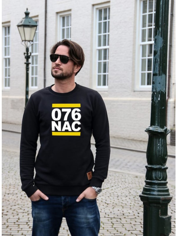 Sweater zwart | 076NAC wit