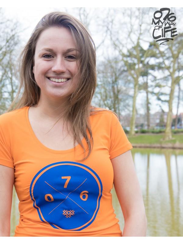 Shirt Oranje | 076XXX Blauw