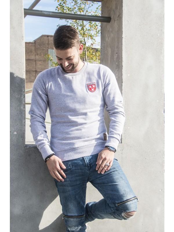 Sweater grijs | Embleem Breda Rood