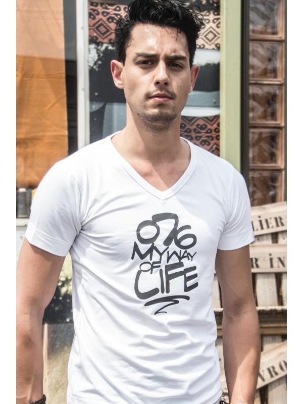 Shirt wit | 076MWOL zwart