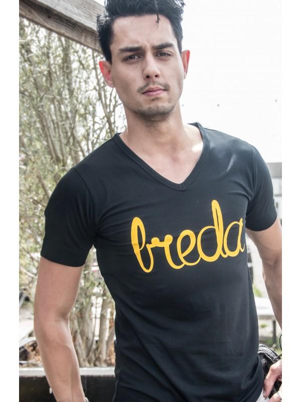 Shirt Zwart | Breda Geel