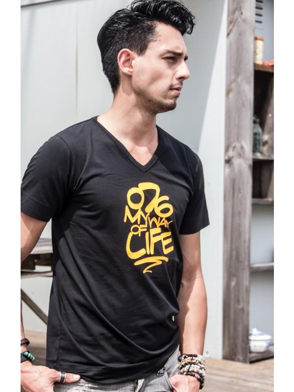 Shirt Zwart | 076MWOL geel
