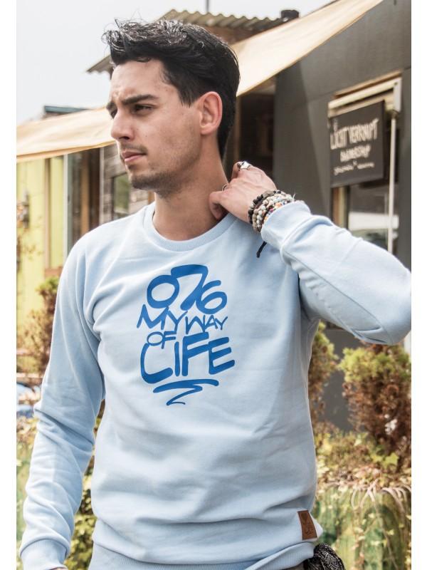 Sweater licht blauw | 076MWOL Blauw