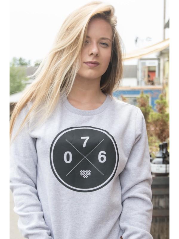 Sweater grijs | 076XXX zwart