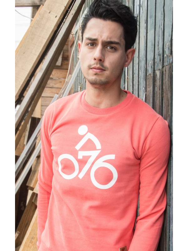 Sweater peach | 076Fiets wit