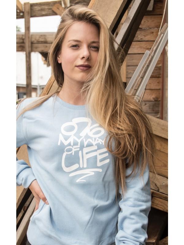Sweater licht blauw | 076MWOL wit