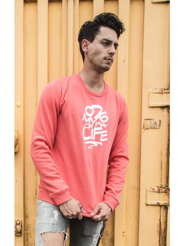 Sweater peach | 076MWOL wit