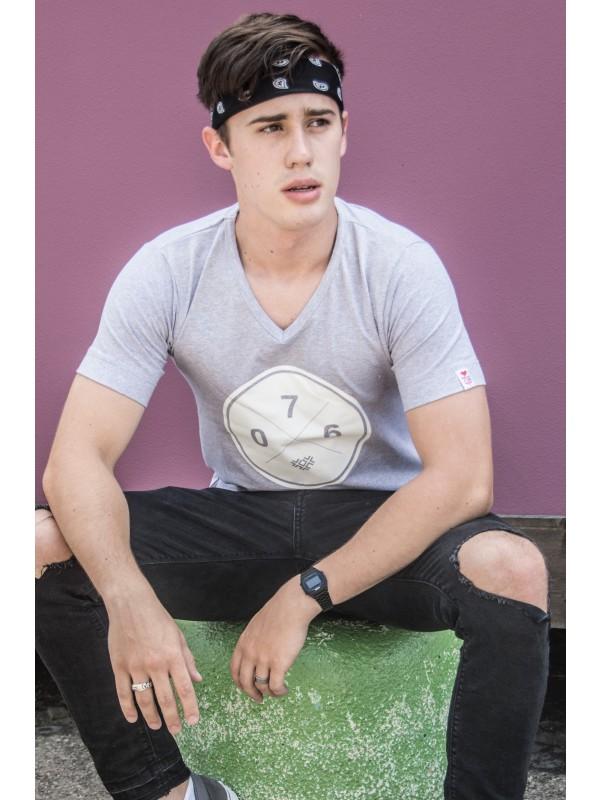Shirt grijs | 076XXX wit