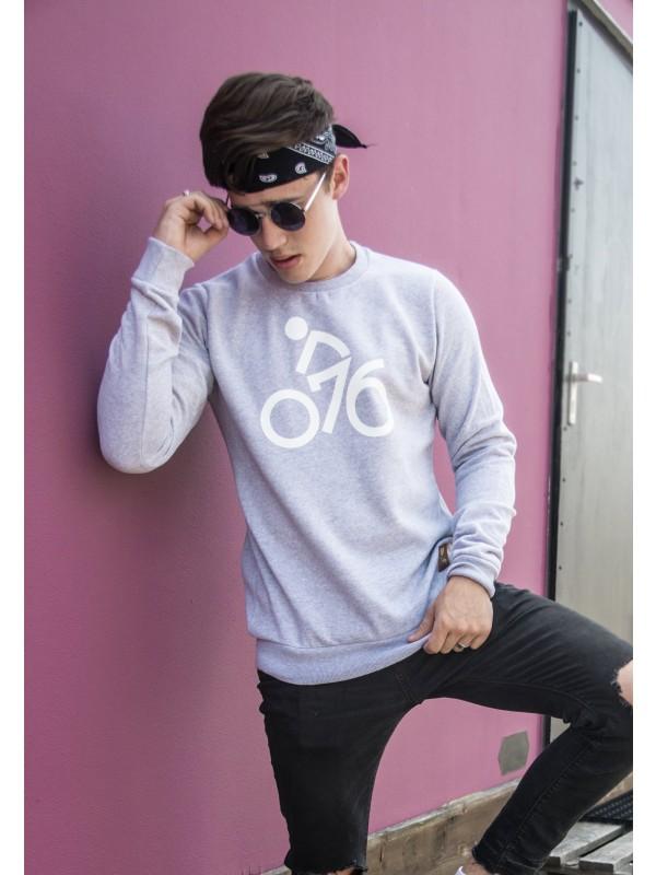 Sweater grijs | 076fiets wit