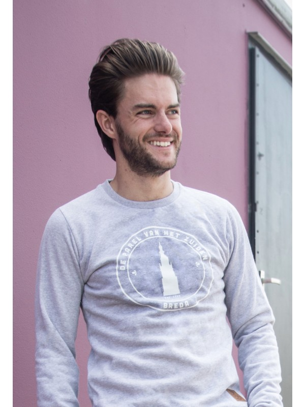 Sweater grijs | Parel wit