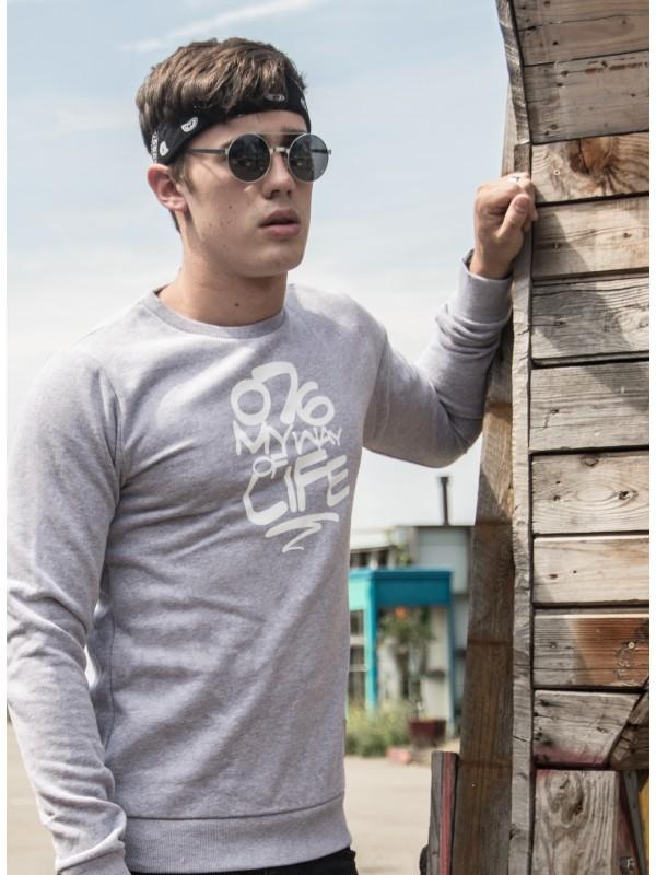 Sweater grijs | 076MWOL wit