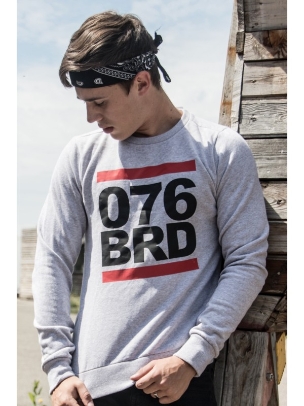 Sweater Grijs | 076BRD zwart