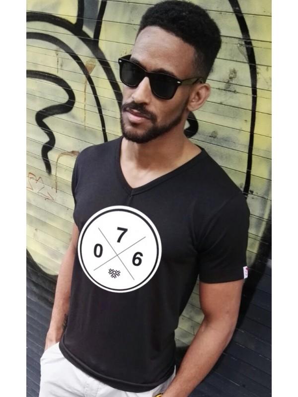 Shirt zwart | 076XXX wit