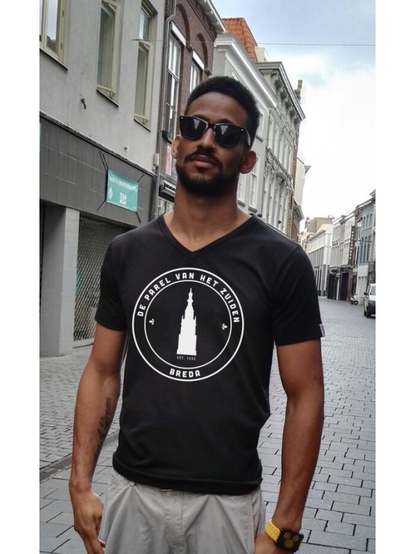 Shirt zwart | Parel wit