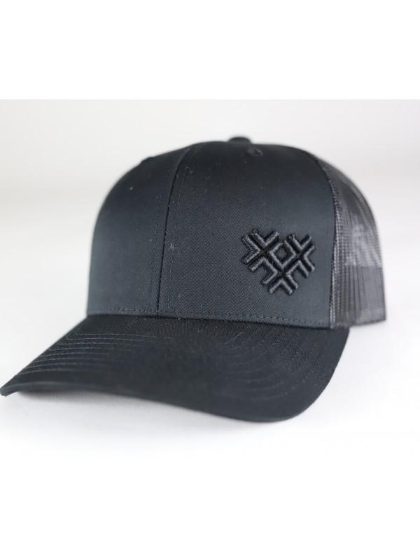 Truckercap Zwart | 3 Kruizen Zwart