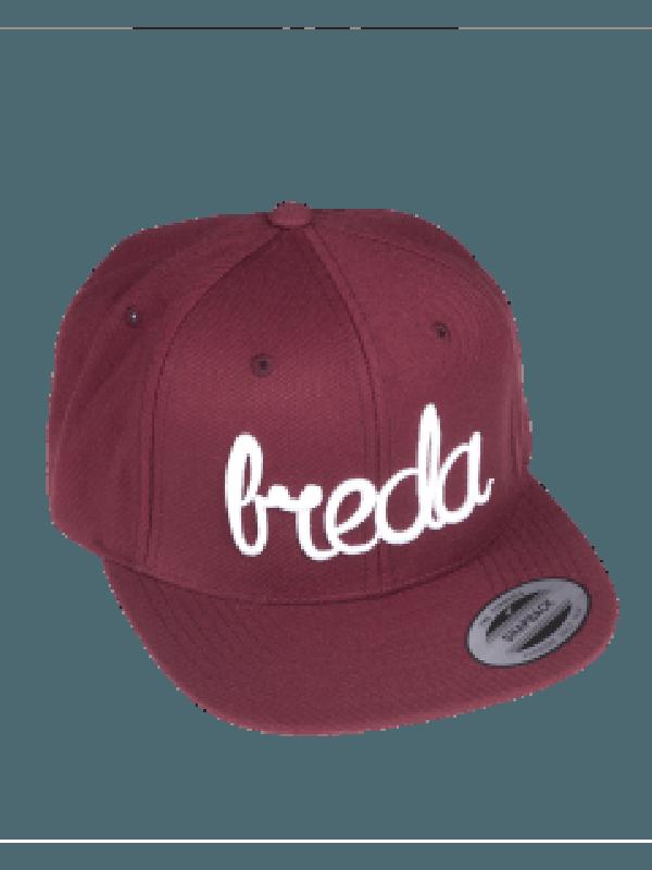 Cap rood | Breda wit