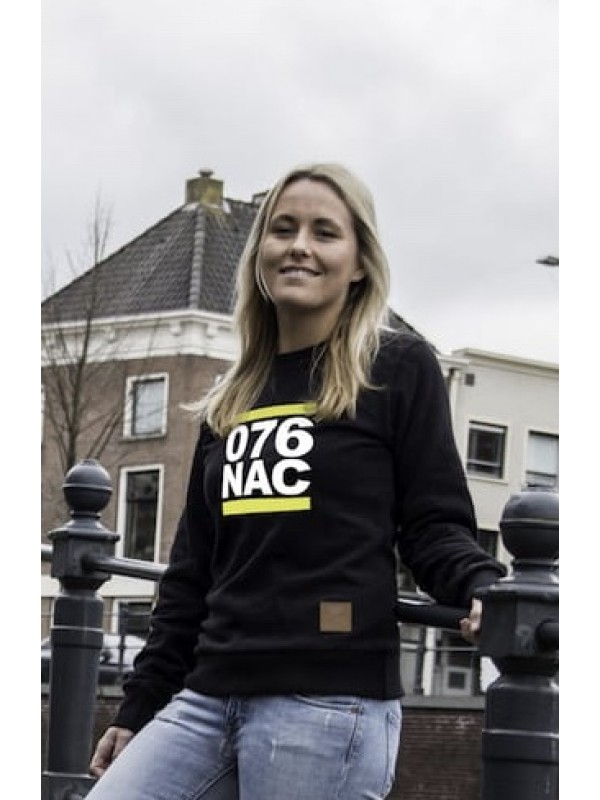 Sweater zwart | 076 NAC wit