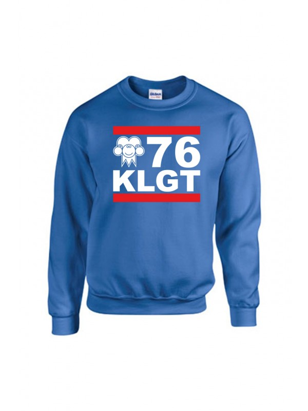 Sweater Blauw | 076 KLGT wit