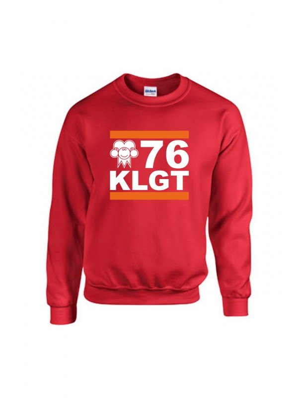Sweater Rood | 076 KLGT Wit