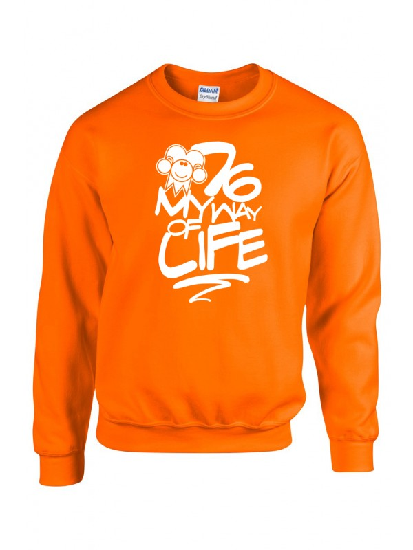 Sweater Oranje | 076MWOL wit