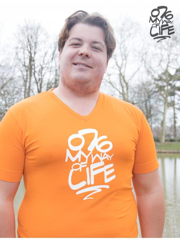 Shirt Oranje | 076MWOL Wit