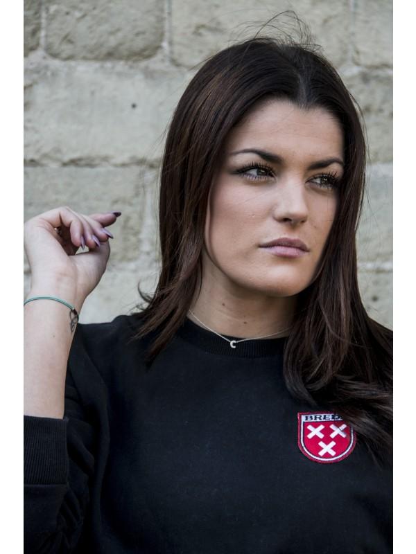 Sweater Zwart | Embleem Breda Rood