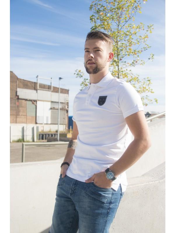 Polo Wit | Embleem Breda Zwart