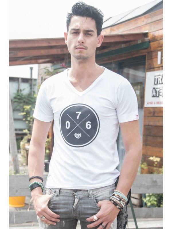 Shirt wit | 076XXX zwart