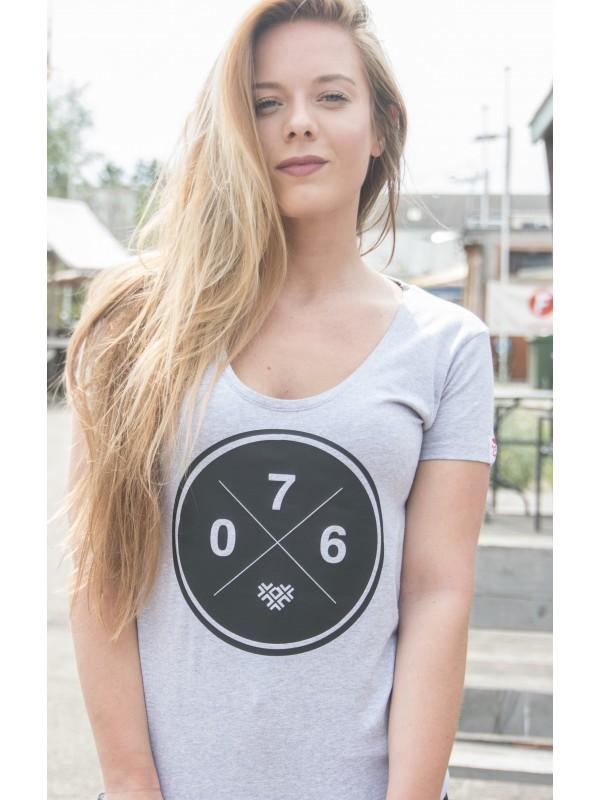 Shirt grijs | 076XXX zwart