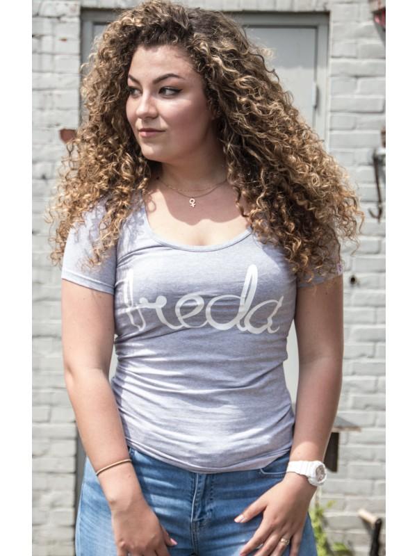 Shirt grijs | Breda wit