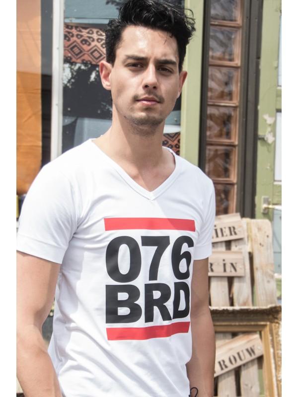 Shirt wit | 076BRD zwart