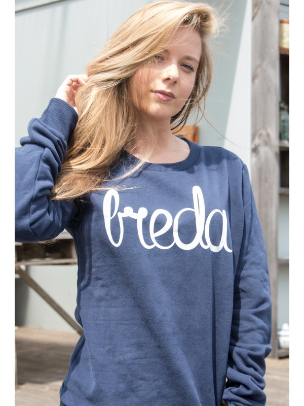 Sweater donker blauw | Breda wit