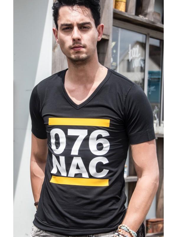 Shirt zwart | 076NAC wit
