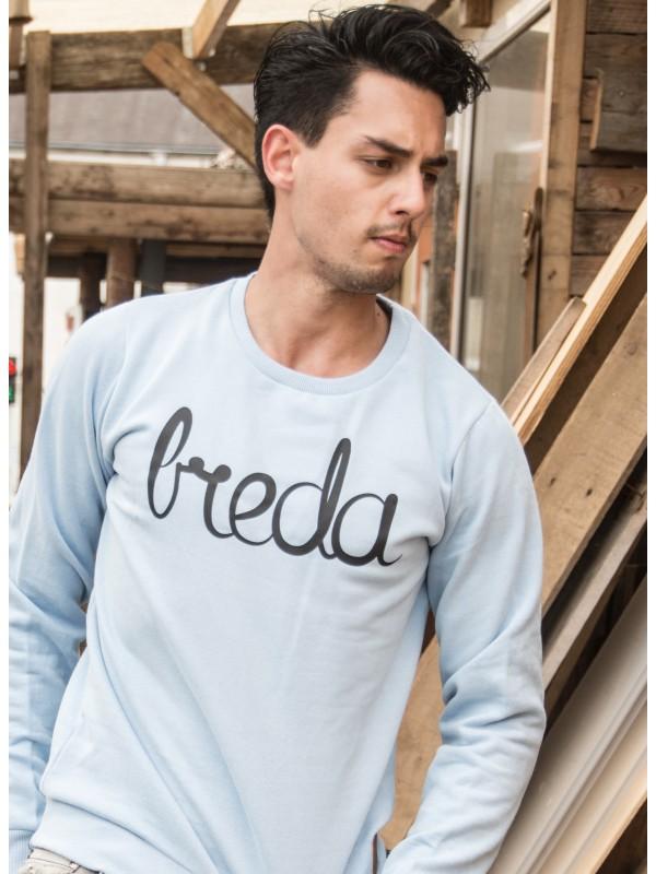 Sweater licht blauw | Breda zwart