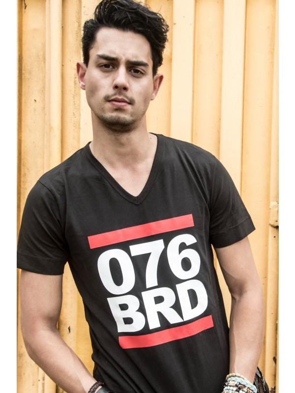 Shirt zwart | 076BRD wit