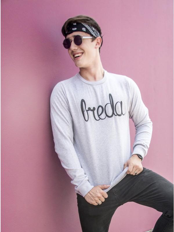 Sweater grijs | Breda zwart