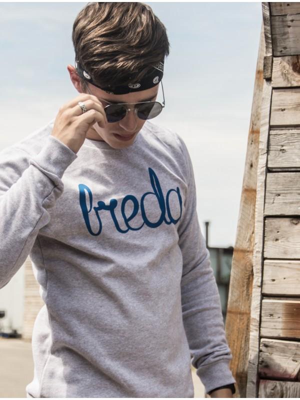 Sweater grijs | Breda blauw