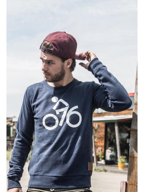Sweater donker blauw | 076fiets wit