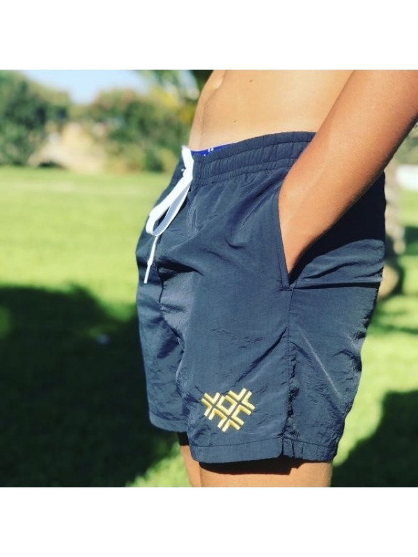 Zwembroek Blauw | Kruizen Goud